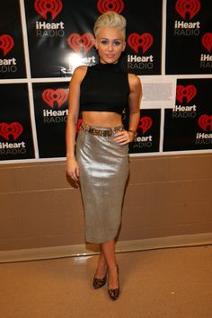 Miley Cyrus At The I Heart Radio Festival: Get it girl. Thumbs way up.
