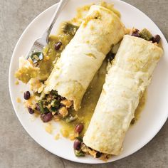 Slow-Cooker Vegetable Enchiladas with Poblanos and Beans for Two | America's Test Kitchen