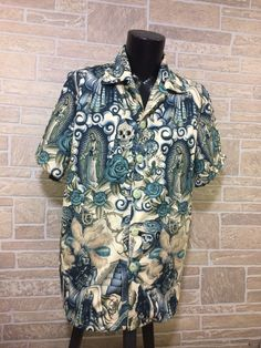 A personal favorite from my Etsy shop https://www.etsy.com/listing/526216368/dia-de-los-muertos-hawaiian-shirt-day-of