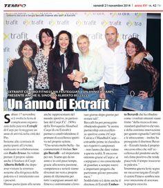 """""""Un anno di Extrafit"""" (Settimanale Tempo, venerdì 21 novembre 2014)"""