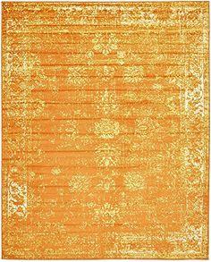 Unique Loom Sofia Collection Orange 8 x 10 Area Rug 8 x 10 -- ** AMAZON BEST BUY ** #VintageKitchenDecor