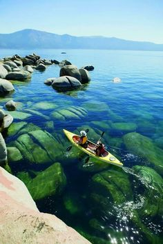 YES, the water is really that clear! Lake Tahoe - want to Kayak on the lake(along with everything else around the lake)                                                                                                                                                      More