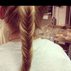 Learned to fishtail braid today. Excited to try it on my own hair soon!