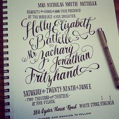 How every invitation begins at Ladyfingers Letterpress!
