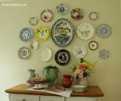 decorating walls with vintage plates   Plate Wall