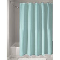 Crafted of #quality polyester, this mold/mildew free fabric curtain is a perfect fit for your shower or bath tub #needs. Water repellant - use it as a liner or as...