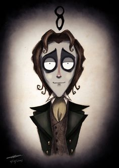 This is a series of portraits of all the Doctors (including the War Doctor, labeled 'X') reimagined in the style of Tim Burton animation characters by artist Michael Kenny.