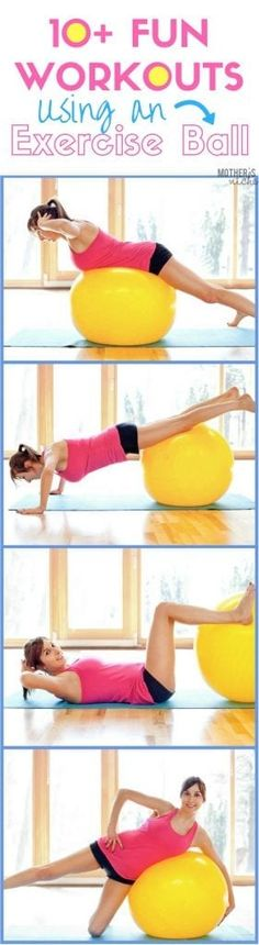 These are my favorite (FREE) workout videos using an exercise ball. I have so much more fun with my workouts when I'm using a stability ball. Tone It Up, Health And Fitness Tips, Health And Wellness, Fitness Abs, Health Tips, Fun Workouts, Bike Workouts, Swimming Workouts, Swimming Tips
