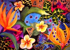 Tropical Mix. Water colour