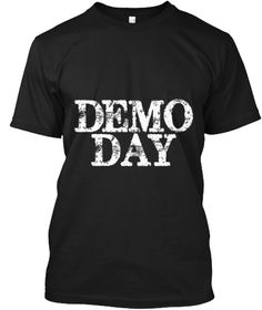 Demo Day Distressed T Shirt Black T-Shirt Front