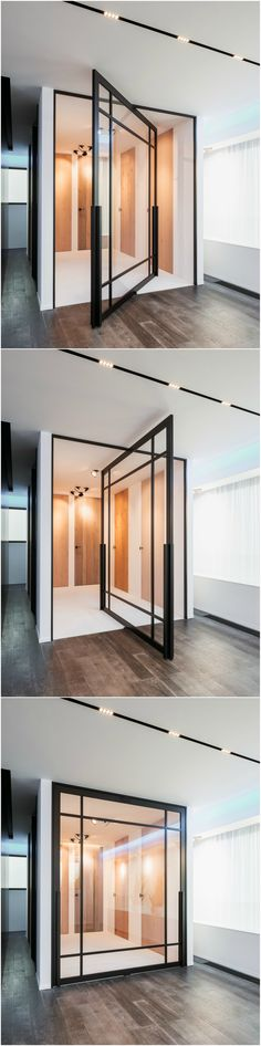 Pivoting room divider by ANYWAYdoors. Pivot Doors, Steel Doors, Design Awards, Home And Garden, Flooring, Building, Glass, Modern, Furniture