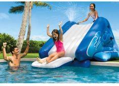 Intex Water Slide Pool Patio Deck Garden Portable Blow Up Kids Adults Toy #Intex