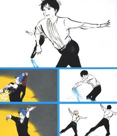 Yuri!!! on Ice OP stills curated by Animage Magazine
