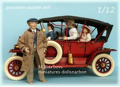 Porcelain dolls one inch scale by Maria Narbon https://www.facebook.com/dollsnarbon.M.Narbon