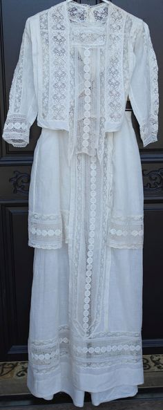 Lacy Victorian shirt and skirt, just begging to be worn for a wedding 100+ years after it was made...
