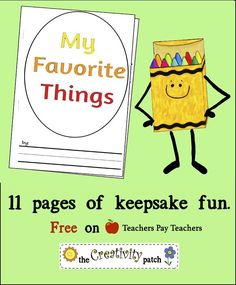 Free Journal for kids. Downloadable pdf. Kids can color and write about their most favorite things.... toys, pets, family... you'll want to keep this one!