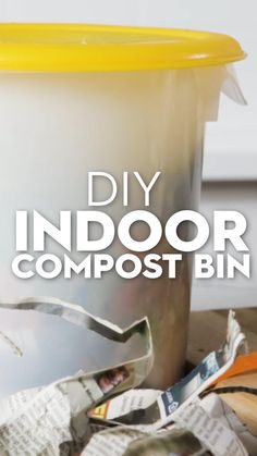 Reduce your kitchen waste with this easy DIY compost bin. Composting kitchen scraps is a simple way to help the environment without doing much work. Store your compost bin under the sink or on the counter for easy access in the kitchen and indoor composting will quickly become part of your daily routine. #composting #compostpin #indoorcompostbin #diycompostbin #bhg