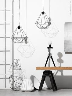 Swedish design, also commonly known as Scandinavian design, consists of effortlessly mixing elements Design Ikea, Geometric Pendant Light, Ikea New, Plafond Design, Ikea Lamp, Boho Room, Cool Lamps, Swedish Design, Scandinavian Home