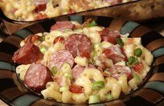 Smoked sausage and bacon Mac & Cheese
