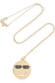 ALISON LOU playful Joe Cool 14-karat gold diamond necklace