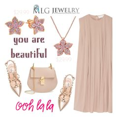 You are beautiful with #MLGJewelry by helenevlacho on Polyvore featuring Valentino, Chloé and mlgjewelry