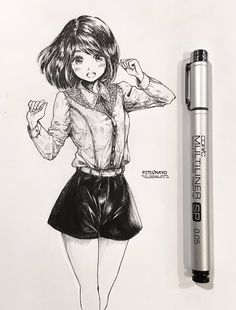what to draw sketches Music Drawings, Anime Drawings Sketches, Anime Sketch, Manga Drawing, Manga Art, Cute Drawings, Pencil Drawings, Manga Anime, Wie Zeichnet Man Manga