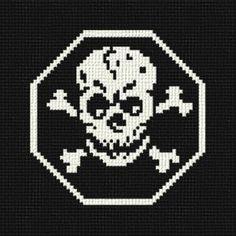 Skull - cross stitch pattern designed by Marv Schier. Category: Halloween.