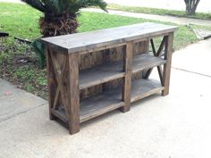 Completing Wood Projects With Ease – WoodworkeRealm Rustic Media Console, Console Tv, Pallet Furniture, Rustic Furniture, Pallet Walls, House Furniture, Furniture Ideas, Rustic Wall Letters, Pallet Tv Stands