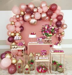 43 Trendy Ideas For Birthday Party Themes Birthday Balloon Decorations, Dinner Party Decorations, Birthday Balloons, 18th Birthday Party, Birthday Dinners, Birthday Party Themes, Best Birthday Wishes, Ballerina Party, Gold Bridal Showers