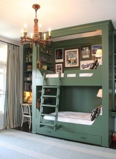 i like the side with a desk and book shelf combo