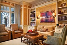 Private Residence- Fontana, Wi - traditional - family room - milwaukee - MCCORMACK & ETTEN ARCHITECTS LLP