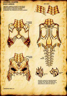 Dragon Hunter Armor by Uratz-Studios.deviantart.com on @DeviantArt