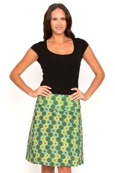 We're offering you the perfect summer collection of women's cotton fashion Buy Skirts Online, Reversible Skirt, Chameleon, Summer Collection, Spiral, Green, Cotton, Pink, Fashion