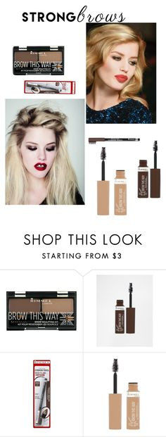 """""""Brows - Georgia May Jagger"""" by shistyle on Polyvore featuring beauty, Rimmel, Jagger, BeautyTrend, strongbrows and boldeyebrows"""