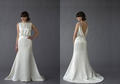 Caroline Devillo Couture Ginger wedding gown, available at Something White, A Bridal Boutique