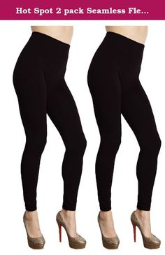 Hot Spot 2 pack Seamless Fleece Lined Leggings - Stretchy One Size (Black). Looking for a cute and cool way to keep warm during these cold winter days? The best way to do it is by wearing these awesome leggings that are fleece lined! Keeps you super cozy and warm and doesn't compromise your look one bit. The best part of this deal? You get the leggings in six different colors to match every look; whether you want to wear the leggings alone or layer them under pants or a long shirt. Don't...