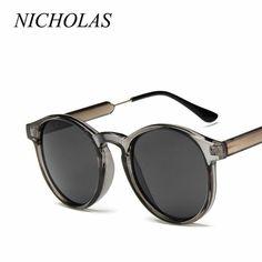 ac920c415a191 NICHOLAS Retro Round Sunglasses Women Men Brand Design Transparent Female  Sun  fashion  clothing