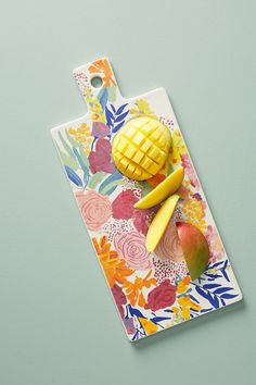 Slide View: 1: Paint + Petals Cheese Board