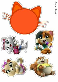 Diy Party Decorations, Birthday Decorations, Sweet Dreams Baby, Stamp Printing, Graphics Fairy, Cat Party, Cat Birthday, Cat Stickers, Paw Patrol