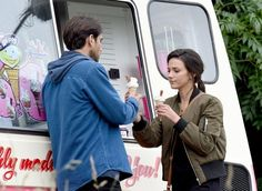 Luke Pasqualino and Michelle Keegan filming in Manchester Our Girl Season 2. July 2016. Credits: Mirror.co.uk