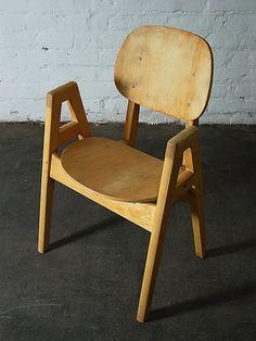 Ilmari Tapiovaara; Birch Chair, 1950s.