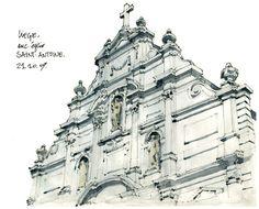 Gerard Michel by Urban Sketchers, via Flickr