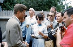 John F. Kennedy - Hyannis Port, MA - Kennedy For President Press Party - Circa: 1960