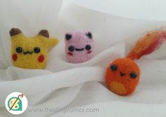 Cute and Cuddly needle felted Pokedolls!!!!   Custom dolls can be purchased here https://www.etsy.com/listing/210588066/custom-pokemon-plushie  Premade dolls can be purchased here https://www.etsy.com/shop/DirtyRumor  Thanks for looking!