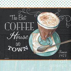 Retro Coffee 2 Framed Print by Debbie DeWitt