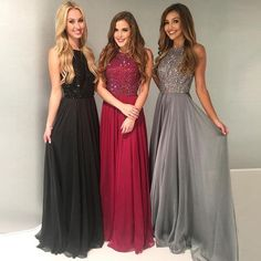 Custom Made Charming Prom Dresses ,2017 New Crystal Sweep Train Prom Dress,Long Prom Dress,Evening Dresses