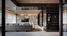 stone-wall-rustic-black for living room