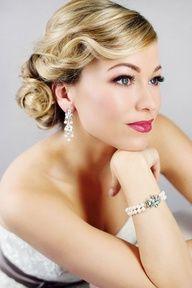 modern vintage bridesmaid hair - Google Search