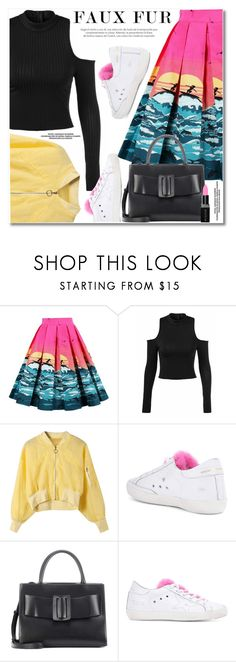 """Wow Factor: Faux Fur"" by svijetlana ❤ liked on Polyvore featuring Golden Goose, Boyy and Smashbox"