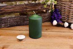 Κεριά Κυλινδρικά Πράσινα Φ6x10εκ
